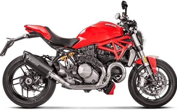 Escape Akrapovic Titanio Racing para Ducati Monster 1200 - Monster 821 2017 en adelante