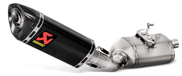 Escape Titanio Akrapovic Triumph Street Triple 765 detalle escape