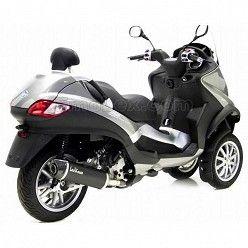 Escape Leovince Piaggio MP3 RST 400 2008-2012 Nero copa Carbono homologado 14005