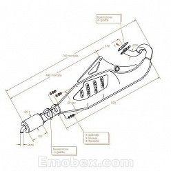 Escape Sito Aprilia Racing 50 (refrigeracion por agua) Sitoplus homologado 0571
