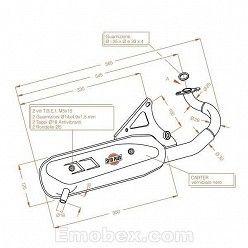 Escape Sito Betamotor Tempo 50 1994-1998 Sitoplus Homologacion francesa 0556