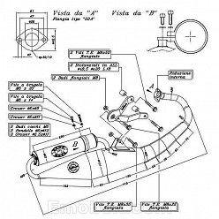 Escape Leovince Derbi GP1 50 (refrigeracion por agua) 2001-2002 Hand Made TT homologado 4063