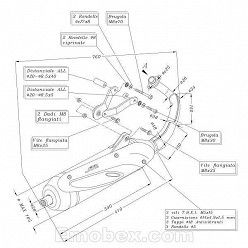 Escape Sito Derbi GP1 50 (refrigeracion por agua) 2001-2002 homologado 0705