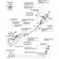 Escape Leovince Derbi Senda Racer SM - Enduro 2004-2009 Hand Made X-Fight homologado 3228
