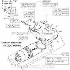 Escape Leovince Kymco Super 9 50 (refrigeracion por aire) 2005 Touring homologado 4135