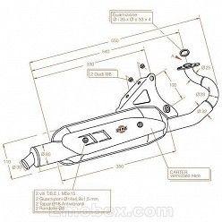 Escape Sito Malaguti F 12 Phantom (aire / refrigeracion por agua) hasta 1998 Sitoplus homologado 0565