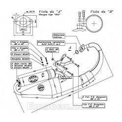 Escape Leovince Peugeot Speedfight 2 50 (aire / refrigeracion por agua) Hand Made TT homologado 4058