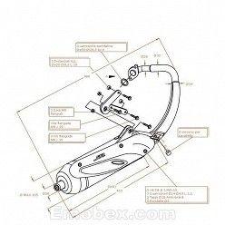 Escape Sito Peugeot Speedfight 2 50 (aire / refrigeracion por agua) homologado 0711