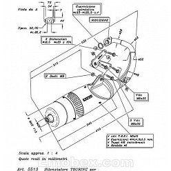 Escape Leovince Peugeot Speedfight 50 (refrigeracion por aire) 1997-1999 Touring homologado 5513