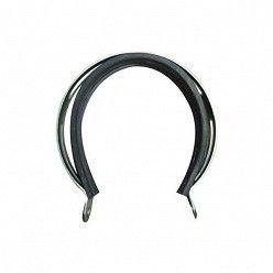 Abrazadera Aluminio Leovince A1 con guarnicion de goma para escapes Oval