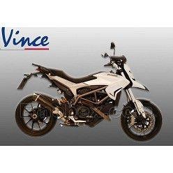 LeoVince SBK - Ducati Hypermotard 821 2013-2015 Nero Inox negro copa Carbono Ref: 14014