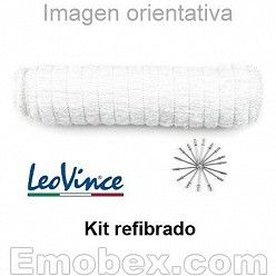 Kit recambio fibra de vidrio para escapes Leovince Underbody (remaches incluidos)