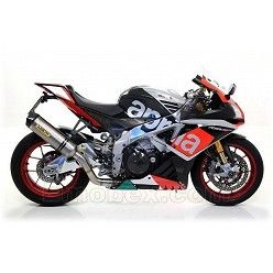Escape Arrow Aprilia RSV4 RR - RF 2015-2016 Race-Tech Titanio copa Carbono