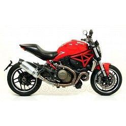 Escape Arrow Ducati Monster 1200 2014-2015 Race-Tech Aluminio copa Carbono