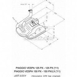 Escape Leovince Sitoplus Vespa 125 PX 0254