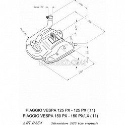 Escape Leovince Sitoplus Vespa 150 PX 0254