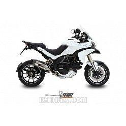 Escape MIVV Ducati Multistrada 1200 2010-2014 Oval Titanio copa Carbono D.027.L4C