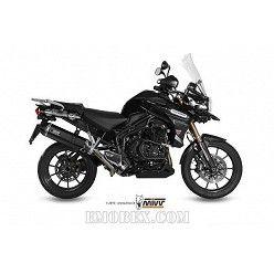 Escape MIVV Triumph Tiger 1200 Explorer 2011-2015 Speed Edge Steel Black