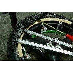 Manual uso destalonadora y equilibradora con ruedas carretera