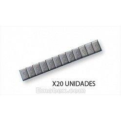 20 tiras de pesas para equilibrado en acero