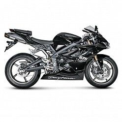 Escapes Akrapovic Triumph Daytona 675 2006-2008 Titanio copa Carbono S-T675SO3-HACT