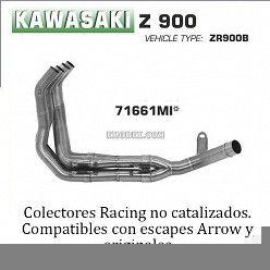 Colectores Kawasaki Z900 Arrow inox 71661MI