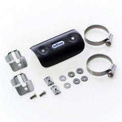 Protector de calor pequeño universal en Carbono Leovince para colectores desde 44mm hasta 66 mm
