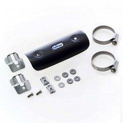 Protector de calor mediano universal en Carbono Leovince para colectores desde 44mm hasta 66 mm