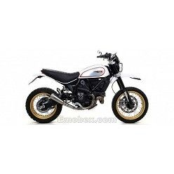 Escape con descatalizador Ducati Scrambler 800 2017 Arrow ProRace full Titanium 71209PR