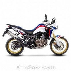 Escape Honda CRF 1000 Africa Twin 2016-2017 Leovince LV One Inox copa Carbono 14191E
