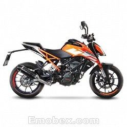 Escape KTM Duke 125 2017 Leovince LV One Carbono copa Carbono 14186E