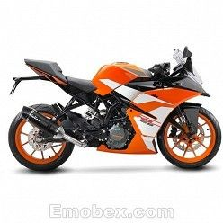 Escape KTM RC 125 2017 Leovince LV One Carbono copa Carbono 14186E