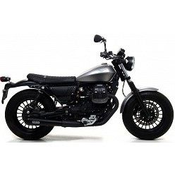 Escapes Moto Guzzi V9 Bobber - Roamer 2017-2018 Arrow ProRacing Nichrom Dark