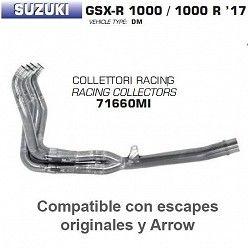 Colectores Arrow Suzuki GSX-R 1000 2017-2018
