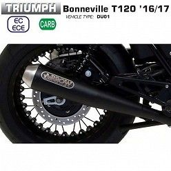Escapes Triumph Bonneville T120 2016-2017 Arrow ProRacing Nichrom Dark 71853PRN