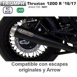 Escapes Triumph Thruxton 1200 2016-2017 Arrow ProRacing Nichrom Dark copa Inox 71851PRN