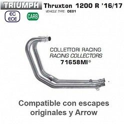 Colectores Arrow Triumph Thruxton 1200 2016-2018