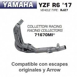 Colectores Arrow Yamaha R6 2017-2018