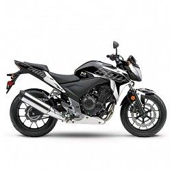 Kit vinilo Deco Up Maximize Honda CB 500 F 2013-2015 Negro - Blanco