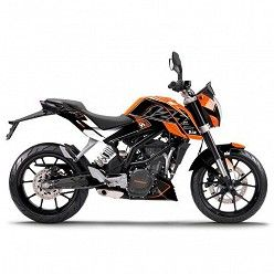Kit vinilo Deco Up Maximize KTM Duke 125 2011-2013 Negro - Naranja