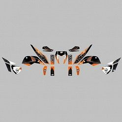 Kit vinilo Deco Up Maximize KTM Duke 690 - R 2010-2015 Negro - Naranja