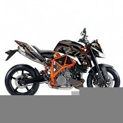 Kit vinilo Deco Up Maximize KTM Superduke 990 2010-2015 Negro - Naranja