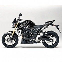 Kit vinilo Deco Up Maximize Suzuki GSR 750 Negro - Blanco