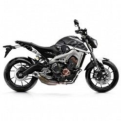 Kit vinilo Deco Up Maximize Yamaha MT09 2013-2016 Negro - Blanco