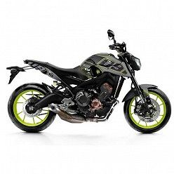 Kit vinilo Deco Up Maximize Yamaha MT09 2013-2016 Gris - Amarillo