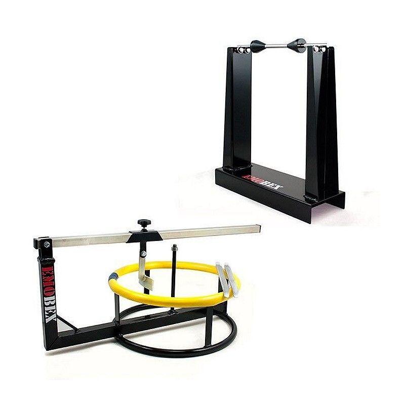 Destalonadora y equilibradora manual de ruedas