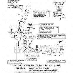 Supresor catalizador Leovince Ducati Hypermotard 796 2010-2012 8053