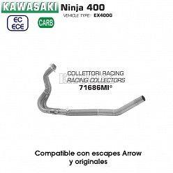 Colectores Kawasaki Ninja 400 2018 Arrow Inox