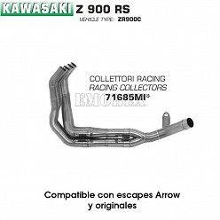 Colectores Kawasaki Z900 RS 2017 Arrow Inox