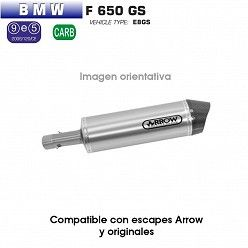 Escape Arrow BMW F650 GS 2008-2012 Maxi Race-Tech Aluminio copa Carbono